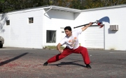 Sifu Marcus Chinfatt performs the mighty Kwan Do!